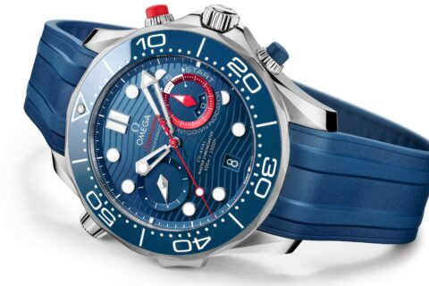 This is a photography of Omega Seamaster Diver 300M America's Cup Chronograph