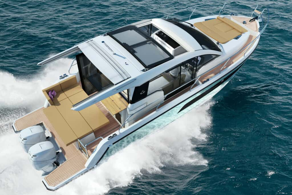 This is photo of a Sealine C335v