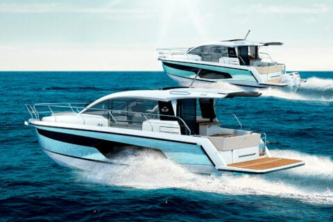 This is photo of a Sealine C335 and C335v