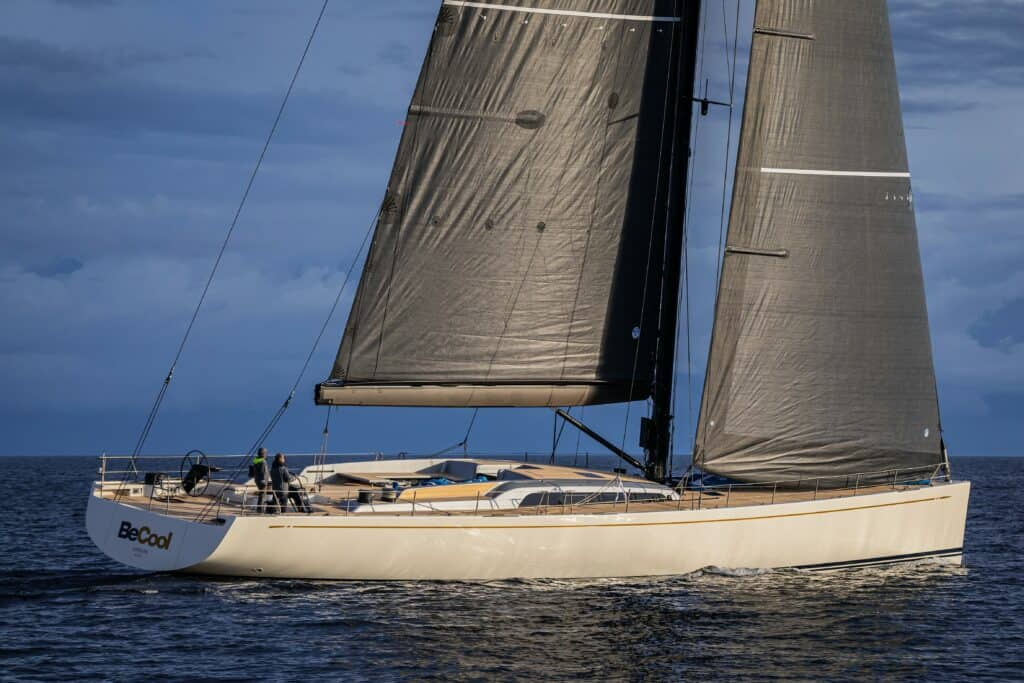 This is a photography of Nautors Swan 98