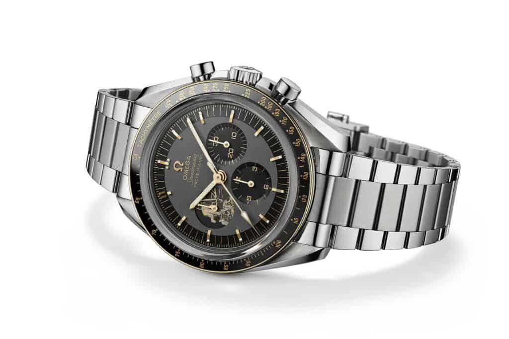 This is a photograpgy space inspired watches Omega Speedmaster Apollo 11