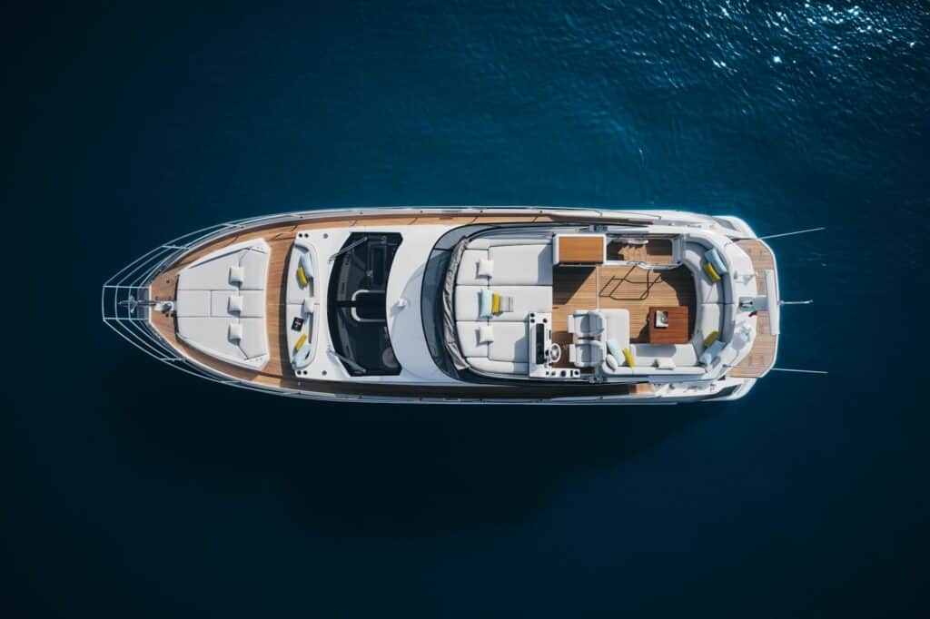 This is a photography of new italian yacht exterior vew