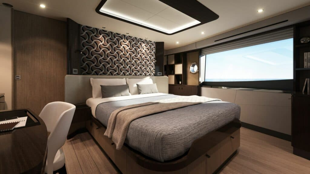 This is a photography of Absolute 60 FLY owners cabin