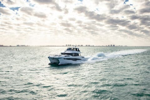 This is photo of a Aquila 70 cruising