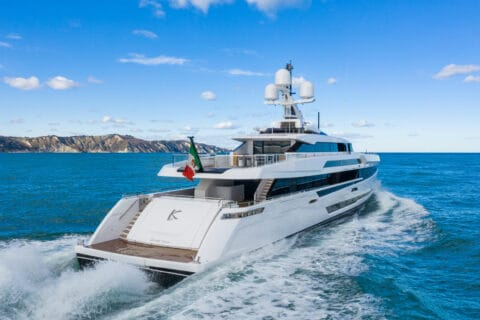 This is photo of a Columbus Sport 50 sea trials