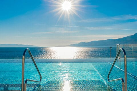 This is photo of a Hilton Rijeka outside pool