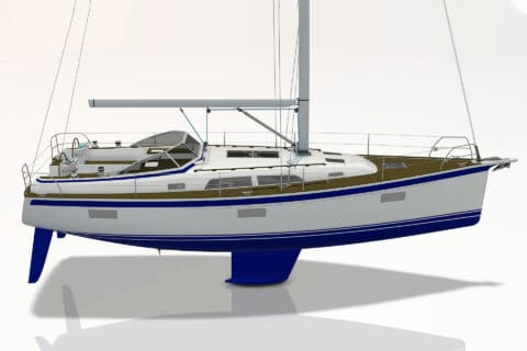 This is photo of a new Hallberg-Rassy 400