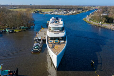 This is a photography of Feadship Project 817 front view