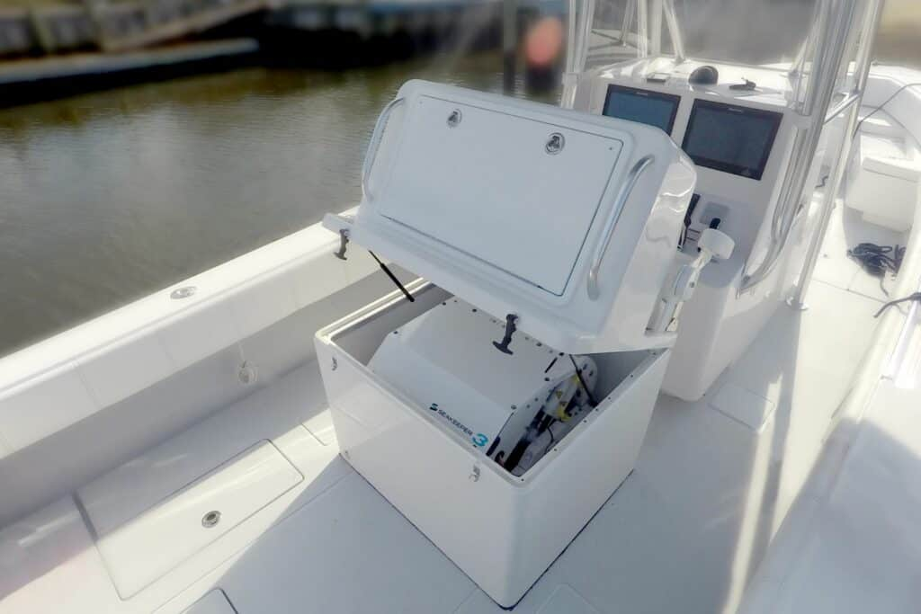 This is photo of a ship stabilizer Seakeeper 3