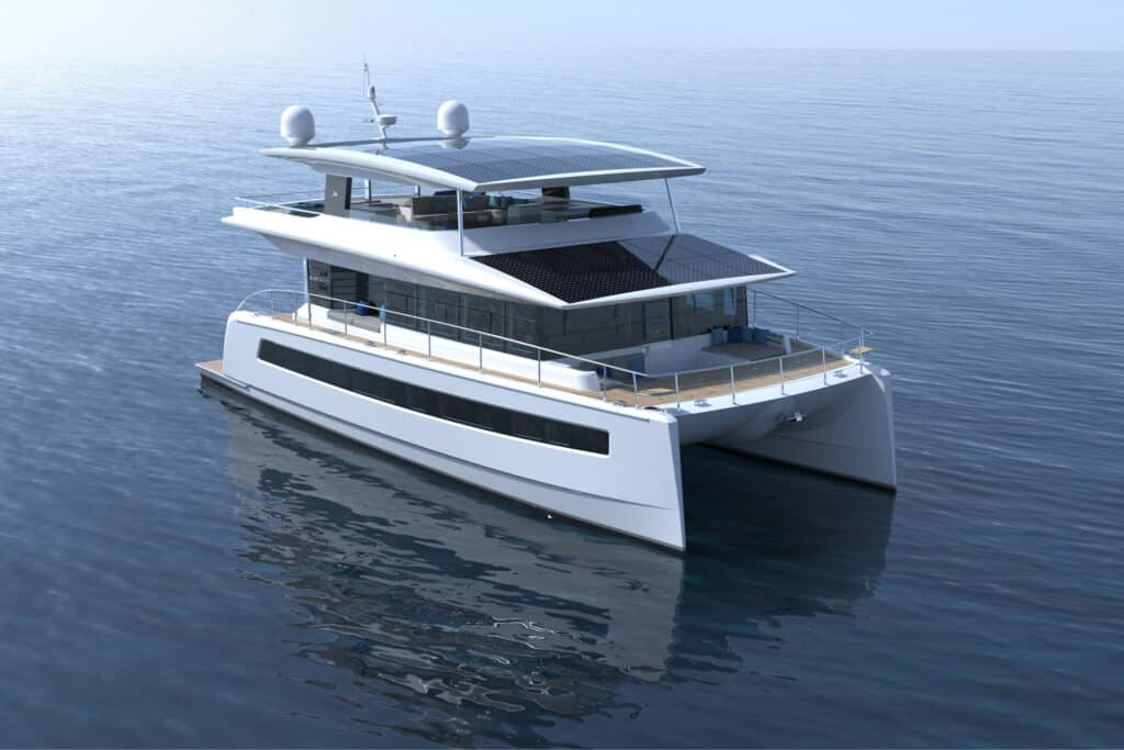 This is photo of a Silent 62 Tri-Deck