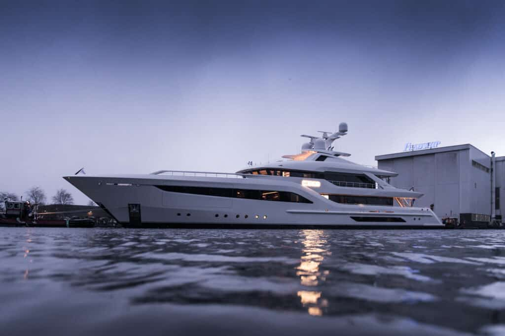 This is photo of a new Feadship Somnium