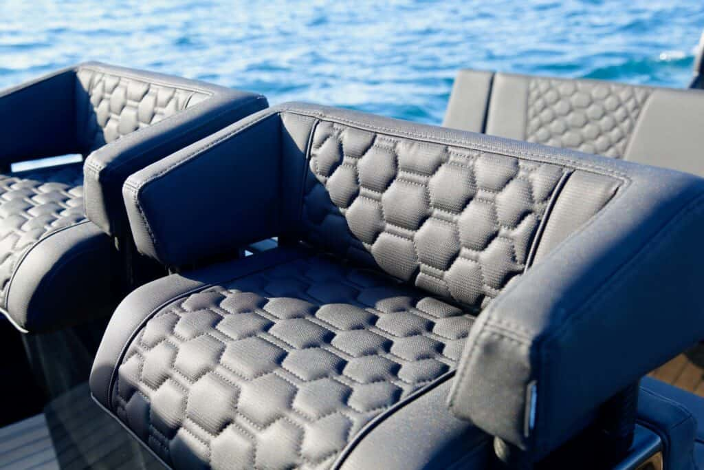 This is a photography of Technohull T7 helm seats