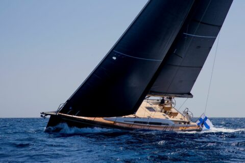 This is a photography of Nautor's Swan 58 sailing