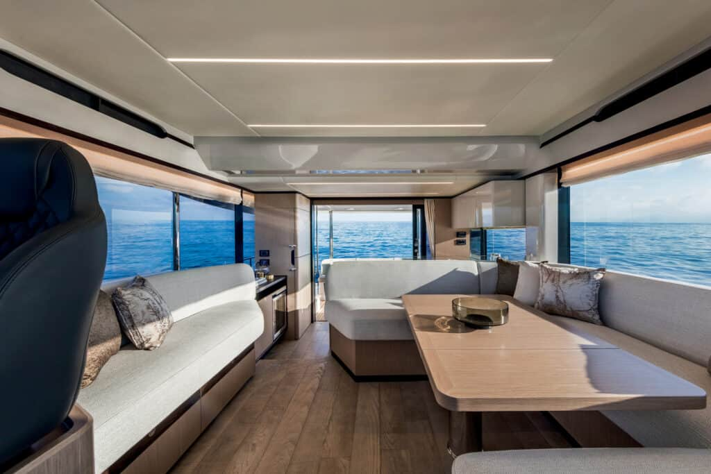 This is photo of a Navetta 48 saloon