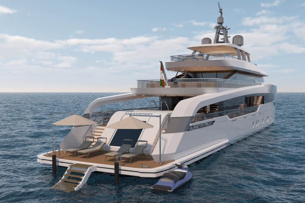 This is photo of a sunpad at CRN M/Y 142