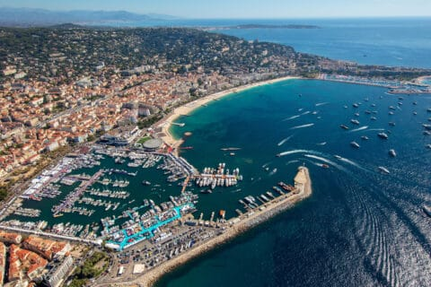 This is photo of a Yachting Festival 2021 at Cann