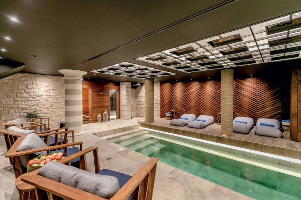 This is photo of a Casa del Mare, inside pool