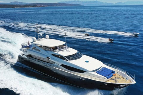 This is photo of a Sunseeker 34m Cassiopeia luxury yacht charter