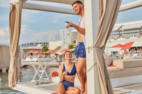 This is photo of a Portus Beach Bar D-Marin Croatia