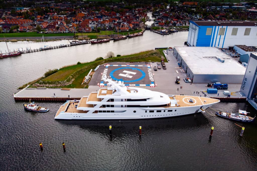 This is photo of a Feadship Bliss