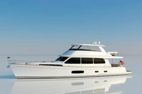 This is photo of a new Grand Banks 85