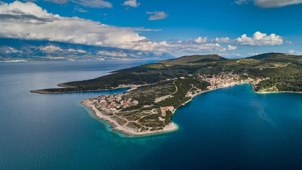 This is photo of a Povlja on island Brač