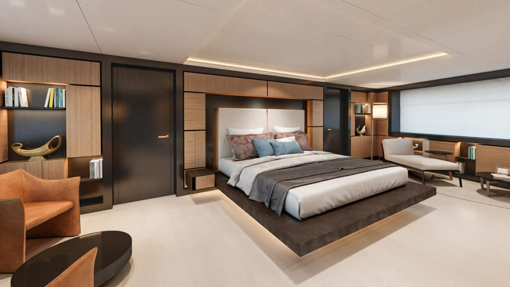 This is photo of a Nauta 54m master suite