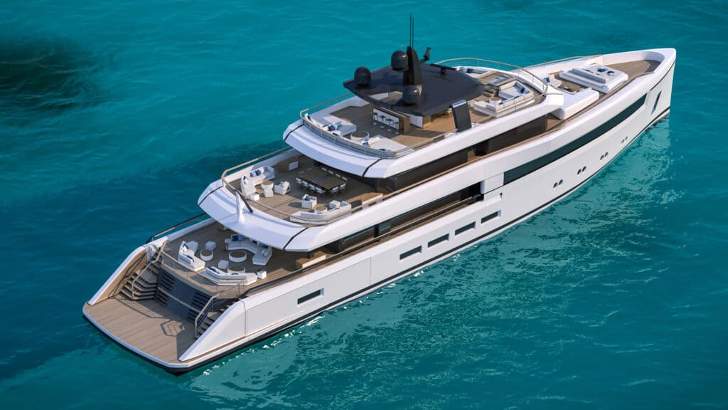 This is photo of Nauta 54m Wide back view