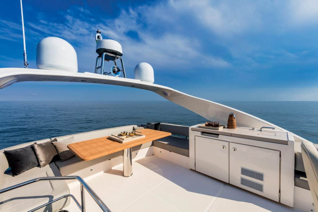 This is photo of a navetta 48 fly bridge