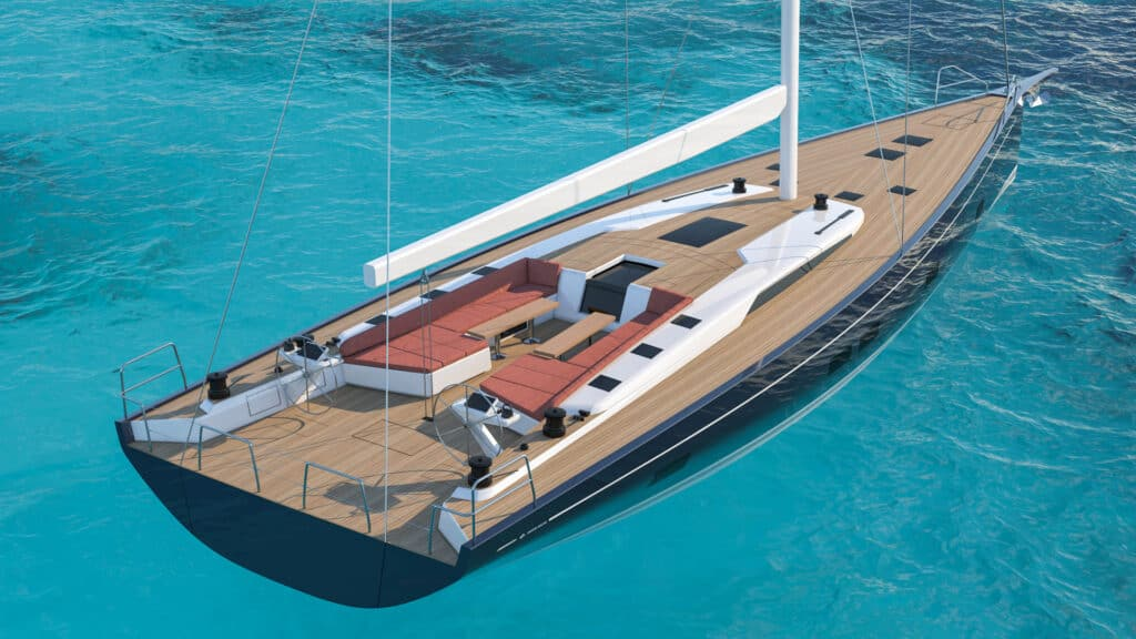This is photo of a new yacht Grand Soleil 72