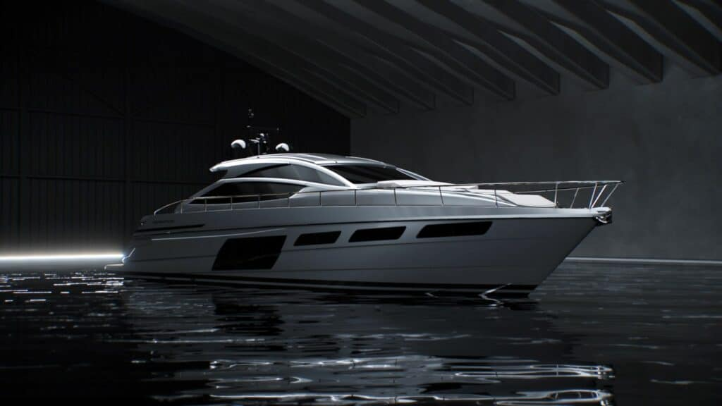 This is aphotography of new Pershing 6X front view
