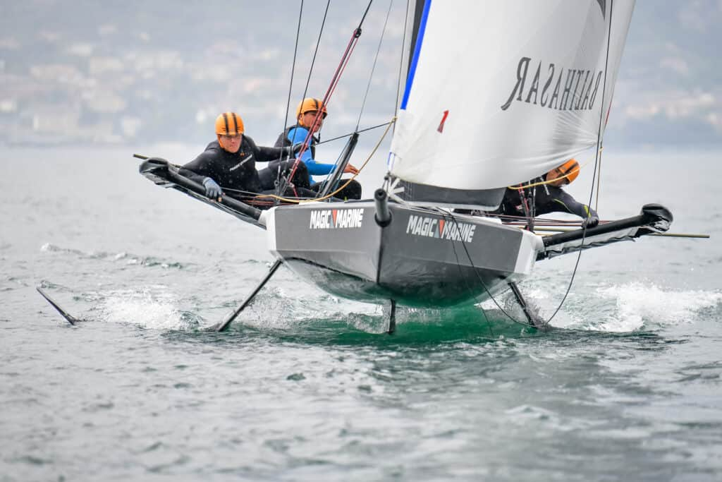 This is photo of a sailing monohull persico 69F