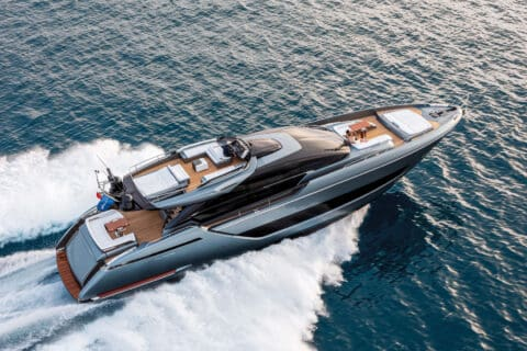 This is photo of a Riva 88 Folgore cruising