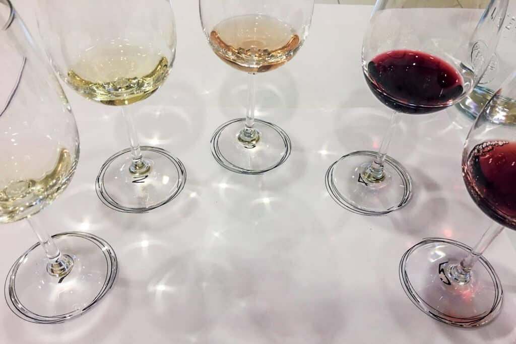 This is photo of a wine tasting