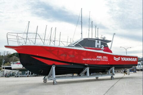 This is photo of a Yanmar tested boat