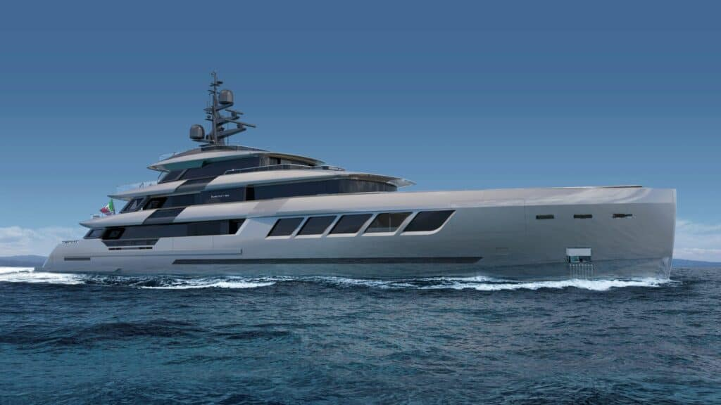 This is a photography of ISA superyacht