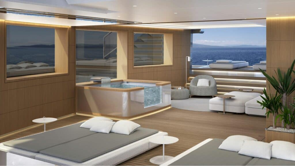 This is a photography of ISA superyacht exterior