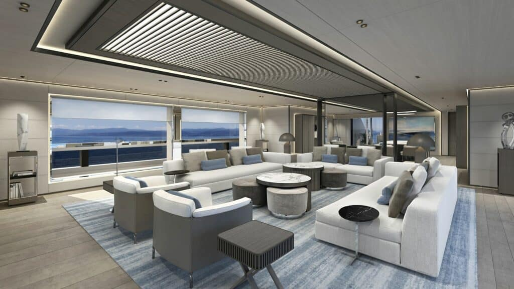 This is a photography of ISA superyacht salon