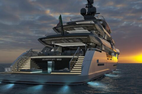 This is a photography of Ayrton 63m superyacht
