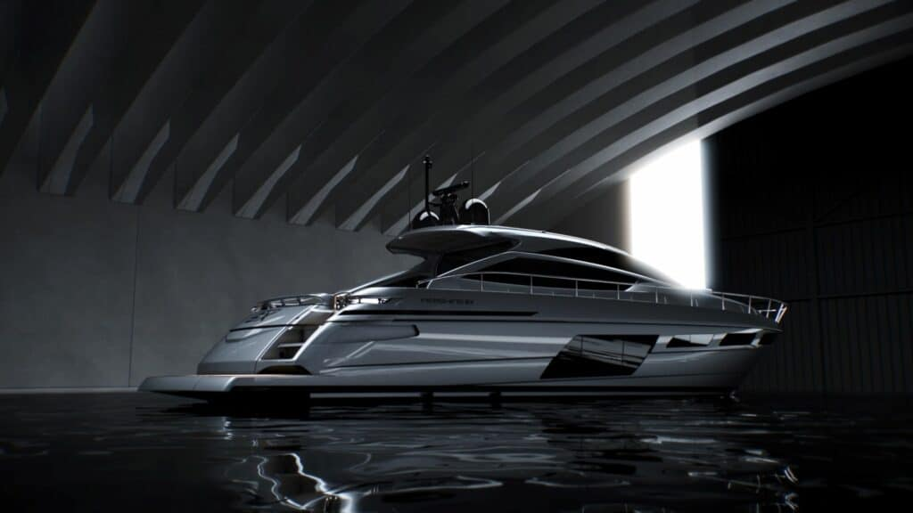 This is aphotography of new Pershing 6X rear view