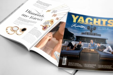This is a photography of new issue Yachts Croatia 67