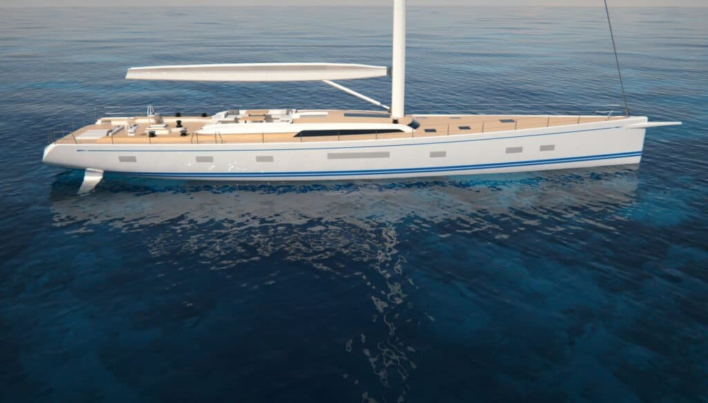 This is a photopgraphy of nautor maxi yacht