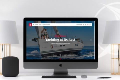 This is photo of a Croatia Yachting new website