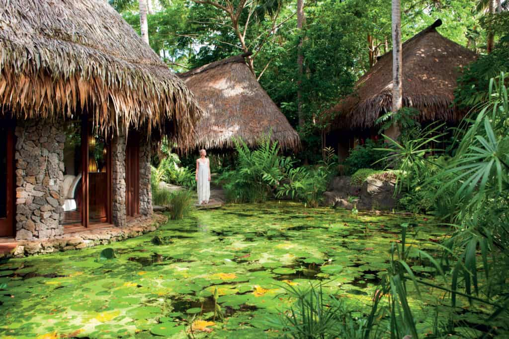 This is photo of a Spa at Laucala, Fiji