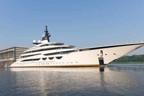 This is photo of a Lurssen project Enzo