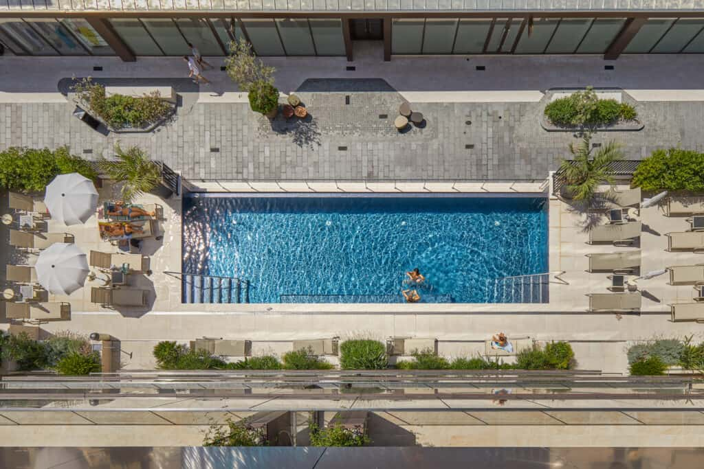 This is photo of a pool