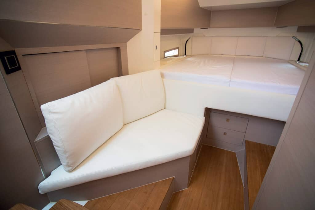 This is photo of a Sacs Rebel 40 cabin