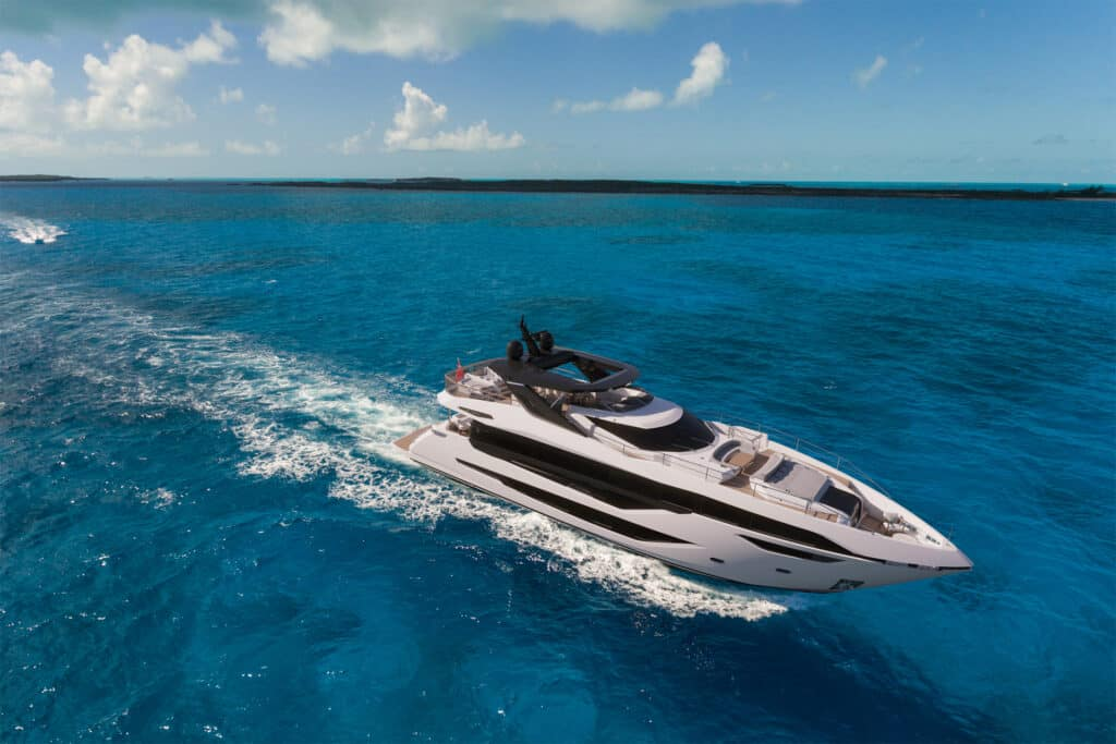 This is photo of a new Sunseeker 100