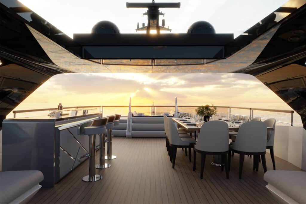 This is photo of a flybridge