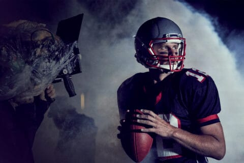 This is photo of a Tom Brady, american football player